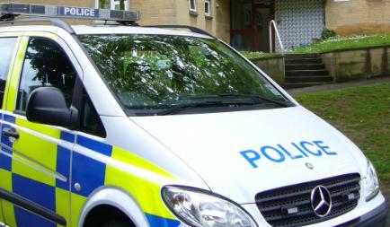 Police van in Oldfield